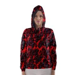 Volcanic Textures  Hooded Wind Breaker (women)