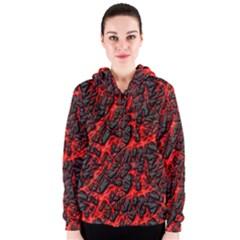 Volcanic Textures  Women s Zipper Hoodie
