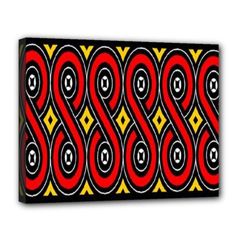 Toraja Traditional Art Pattern Canvas 14  X 11
