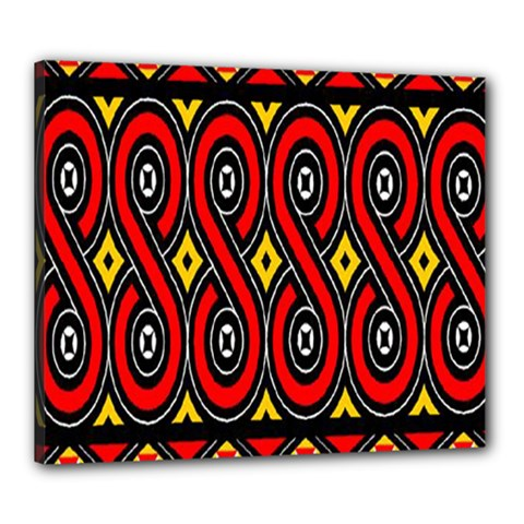 Toraja Traditional Art Pattern Canvas 24  X 20