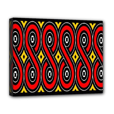 Toraja Traditional Art Pattern Deluxe Canvas 20  X 16