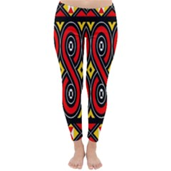 Toraja Traditional Art Pattern Classic Winter Leggings