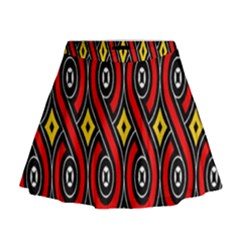 Toraja Traditional Art Pattern Mini Flare Skirt