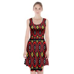 Toraja Traditional Art Pattern Racerback Midi Dress