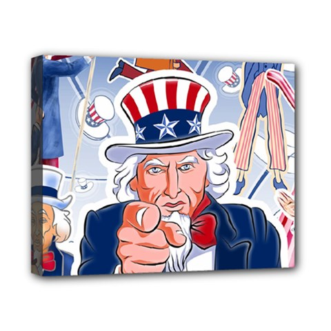 Independence Day United States Of America Canvas 10  X 8