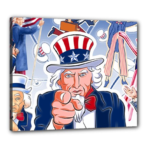 Independence Day United States Of America Canvas 24  X 20