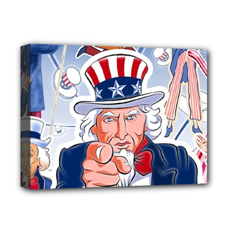 Independence Day United States Of America Deluxe Canvas 16  X 12