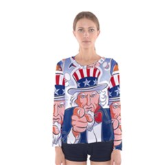 Independence Day United States Of America Women s Long Sleeve Tee