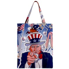 Independence Day United States Of America Zipper Classic Tote Bag
