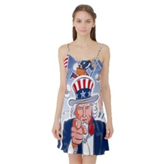 Independence Day United States Of America Satin Night Slip