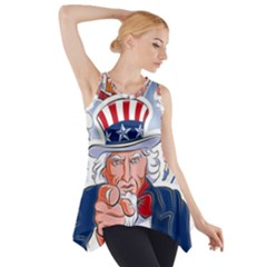 Independence Day United States Of America Side Drop Tank Tunic