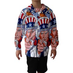 Independence Day United States Of America Hooded Wind Breaker (kids)