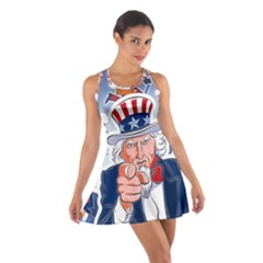 Independence Day United States Of America Cotton Racerback Dress