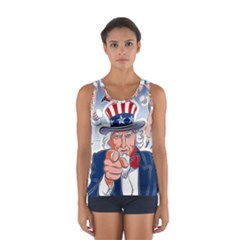 Independence Day United States Of America Sport Tank Top