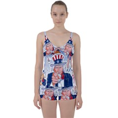 Independence Day United States Of America Tie Front Two Piece Tankini