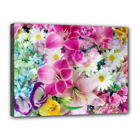 Colorful Flowers Patterns Canvas 16  X 12