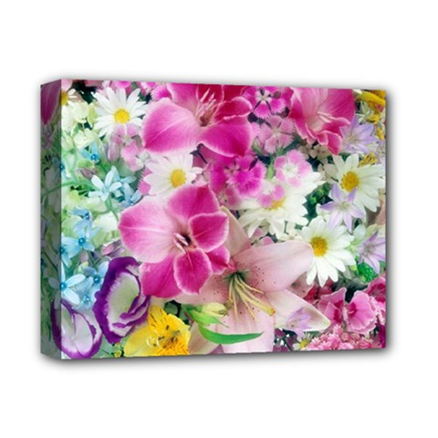 Colorful Flowers Patterns Deluxe Canvas 14  X 11