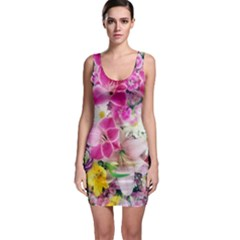 Colorful Flowers Patterns Bodycon Dress