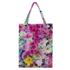 Colorful Flowers Patterns Classic Tote Bag