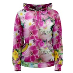 Colorful Flowers Patterns Women s Pullover Hoodie