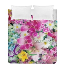 Colorful Flowers Patterns Duvet Cover Double Side (full/ Double Size)