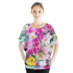 Colorful Flowers Patterns Blouse