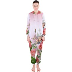 Flora Butterfly Roses Hooded Jumpsuit (ladies)