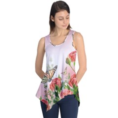 Flora Butterfly Roses Sleeveless Tunic