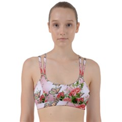 Flora Butterfly Roses Line Them Up Sports Bra