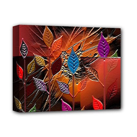 Colorful Leaves Deluxe Canvas 14  X 11