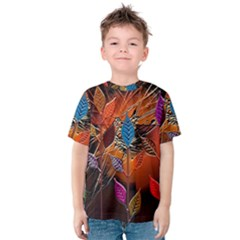 Colorful Leaves Kids  Cotton Tee
