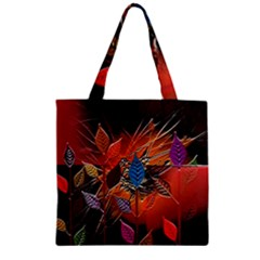 Colorful Leaves Zipper Grocery Tote Bag
