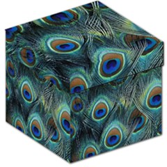 Feathers Art Peacock Sheets Patterns Storage Stool 12