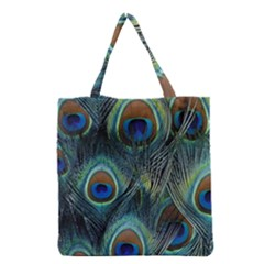 Feathers Art Peacock Sheets Patterns Grocery Tote Bag