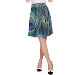 Feathers Art Peacock Sheets Patterns A Line Skirt