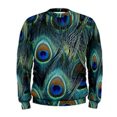 Feathers Art Peacock Sheets Patterns Men s Sweatshirt