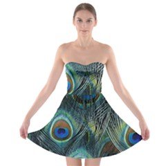 Feathers Art Peacock Sheets Patterns Strapless Bra Top Dress