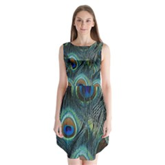 Feathers Art Peacock Sheets Patterns Sleeveless Chiffon Dress