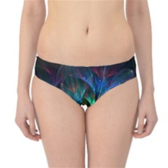 Fractal Flowers Abstract Petals Glitter Lights Art 3d Hipster Bikini Bottoms