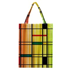 Line Rainbow Grid Abstract Classic Tote Bag