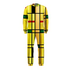 Line Rainbow Grid Abstract Onepiece Jumpsuit (kids)
