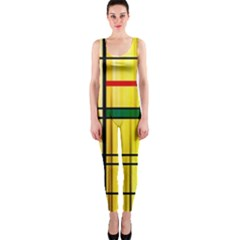 Line Rainbow Grid Abstract Onepiece Catsuit