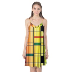 Line Rainbow Grid Abstract Camis Nightgown