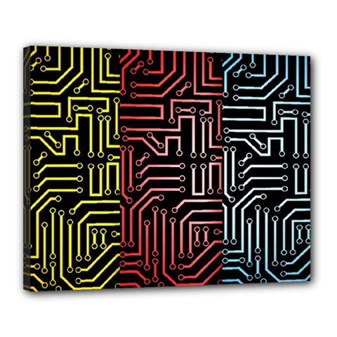 Circuit Board Seamless Patterns Set Canvas 20  X 16
