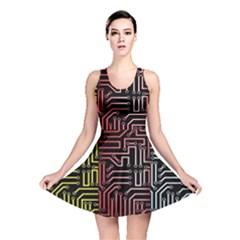 Circuit Board Seamless Patterns Set Reversible Skater Dress