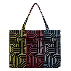 Circuit Board Seamless Patterns Set Medium Tote Bag