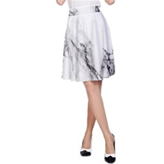 Marble Pattern A Line Skirt