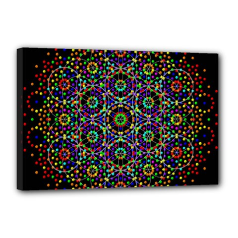 The Flower Of Life Canvas 18  X 12