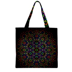 The Flower Of Life Zipper Grocery Tote Bag