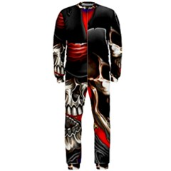 Confederate Flag Usa America United States Csa Civil War Rebel Dixie Military Poster Skull Onepiece Jumpsuit (men)